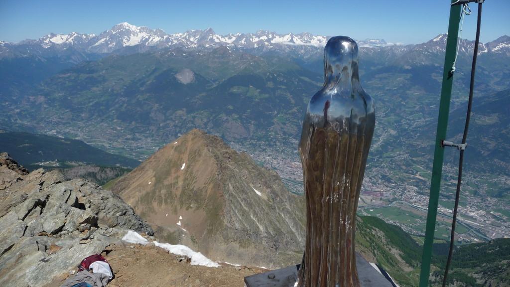 Tiefblick nach Aosta
