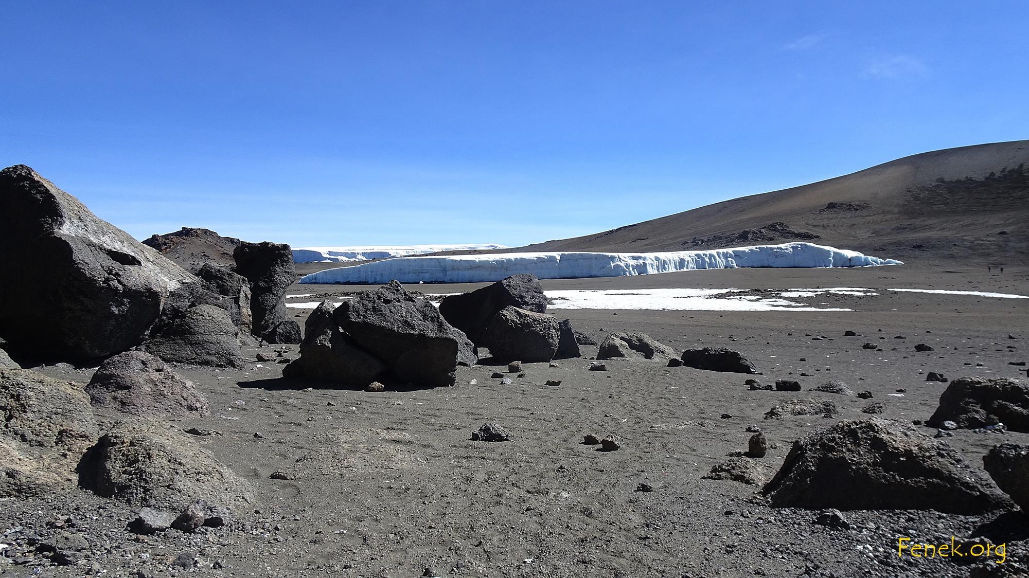 im Krater.....