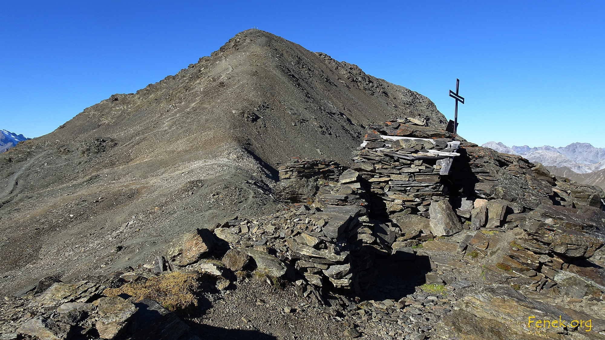 Monte Scorluzzo und Überreste aus dem 1. Weltkrieg