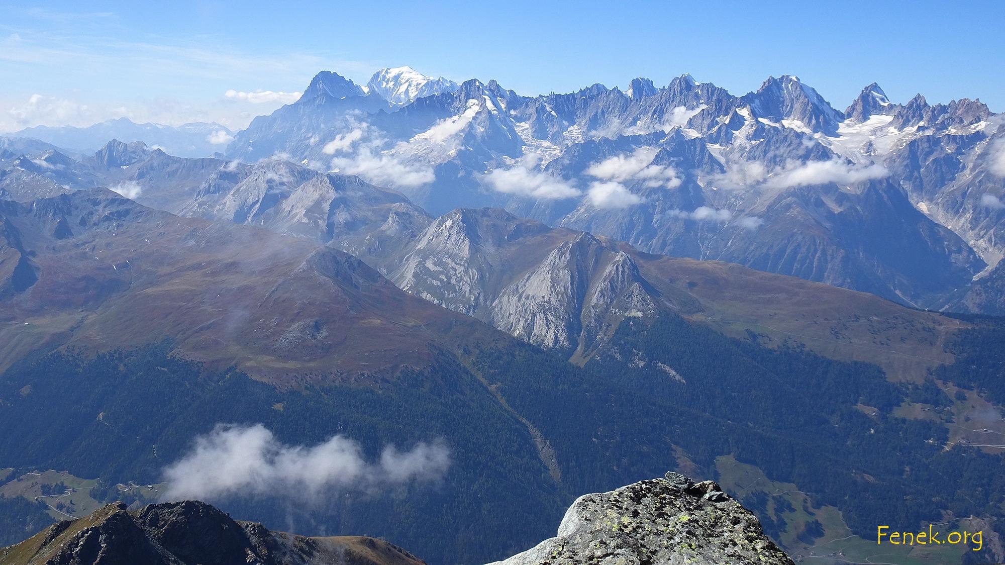 Mont Blanc und seine Untertanen