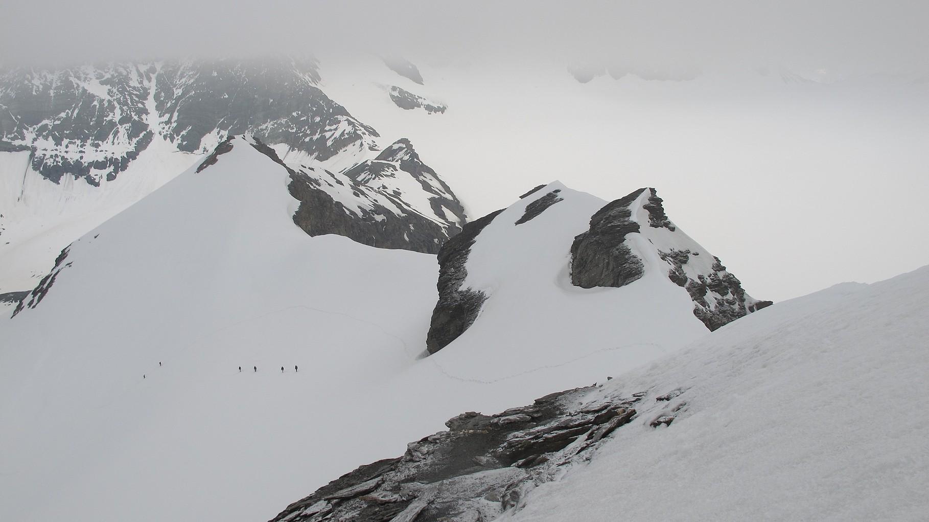 Rückblick zur Aufstiegsroute