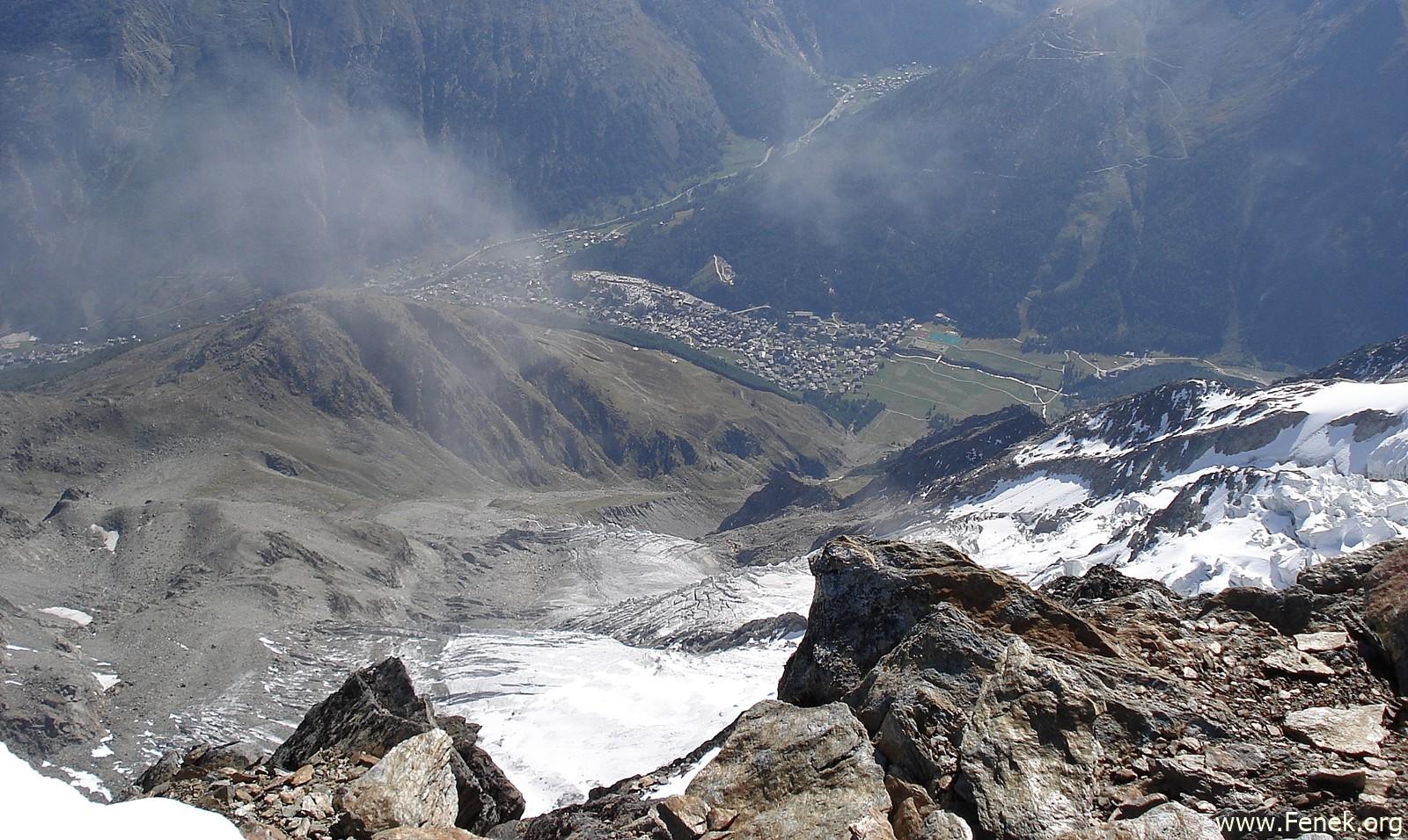 Blick vom Ulrichshorn nach Saas Fee