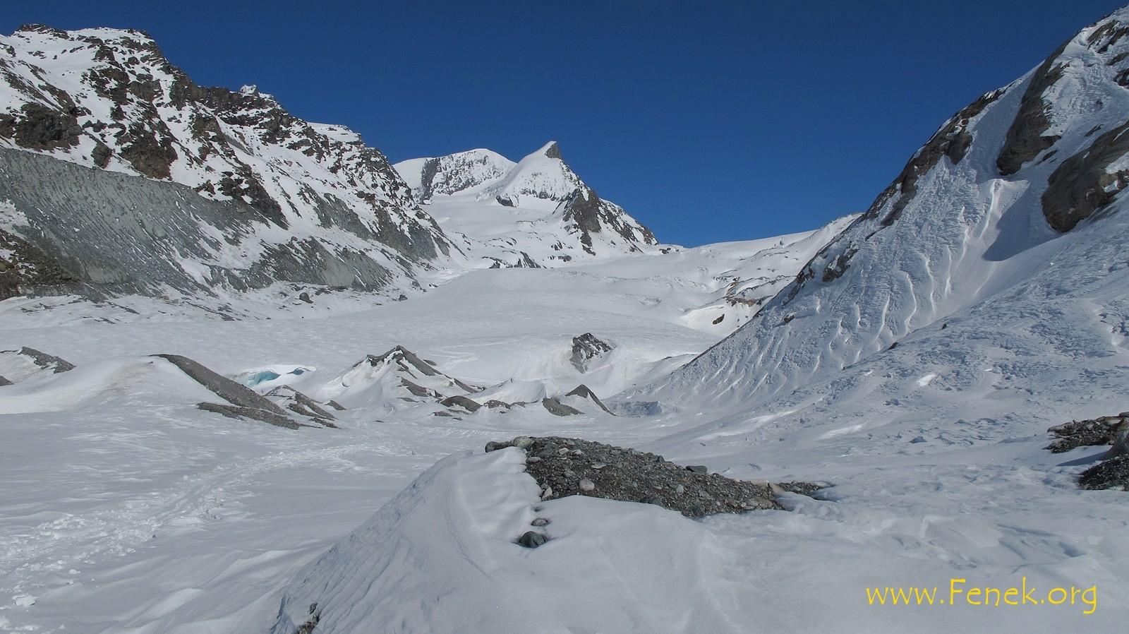 am Ende des Gletschers