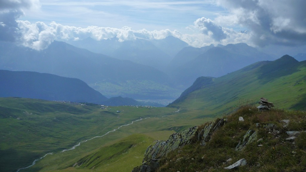 Rückblick in Tal Richtung Brig