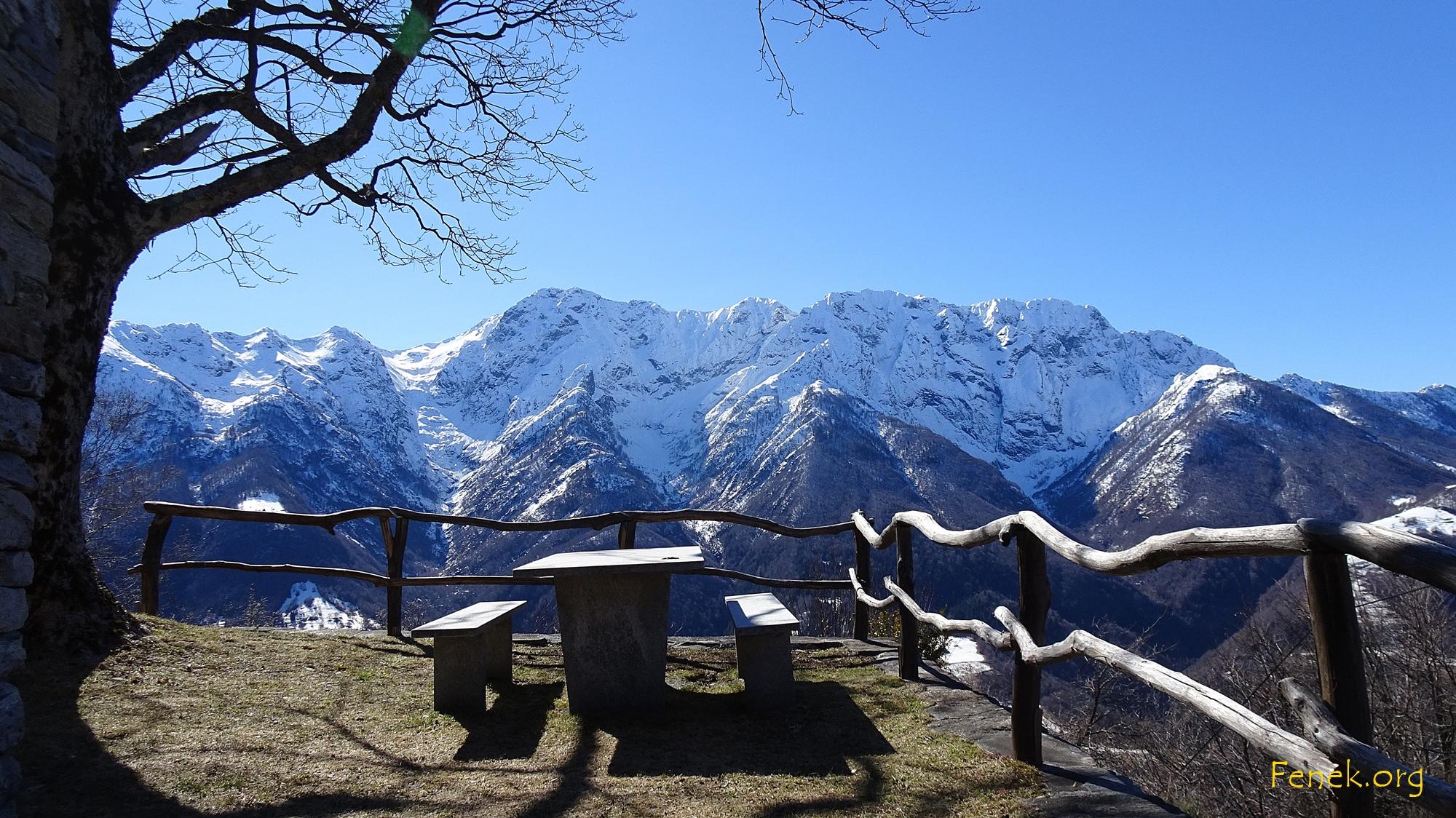 Blick Richtung Monte Leone....da liegt noch viel Schnee