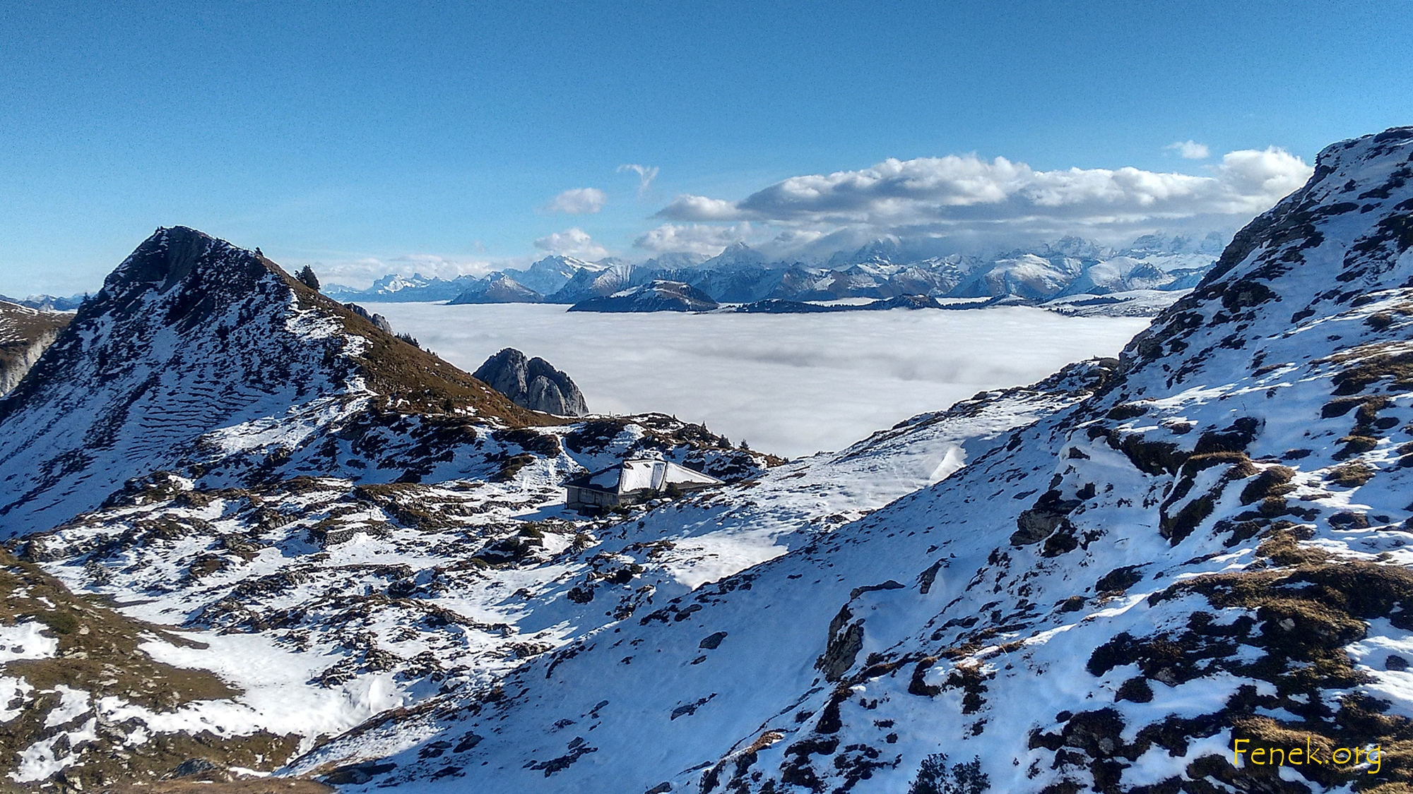 erster Blick auf das Nebelmeer