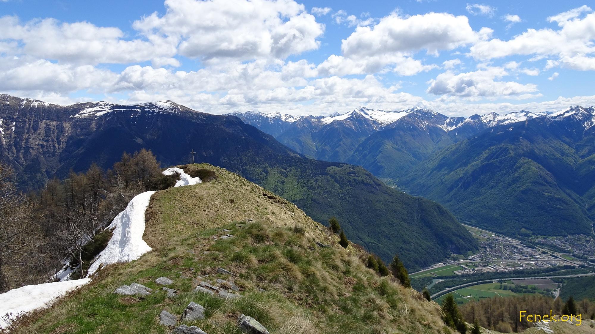 Tiefblick Richtung Bellinzona
