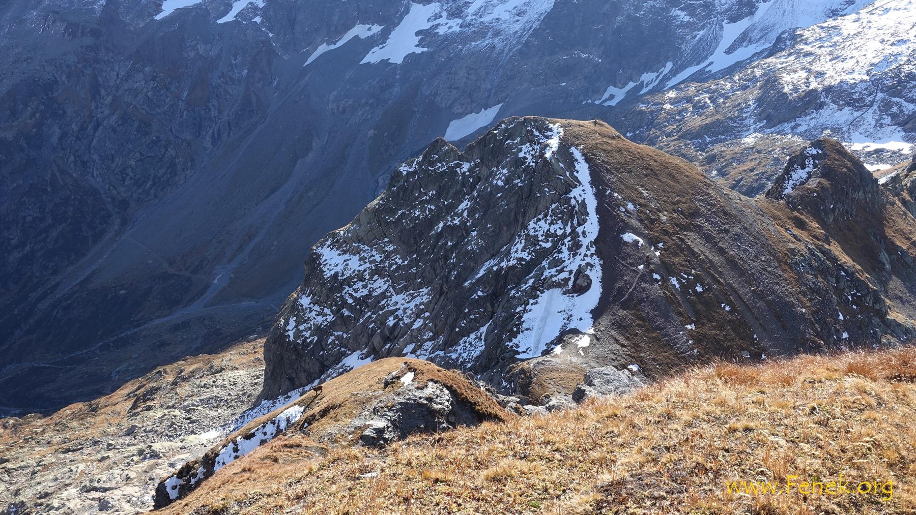 Blick hinunter zum Col de Salenton