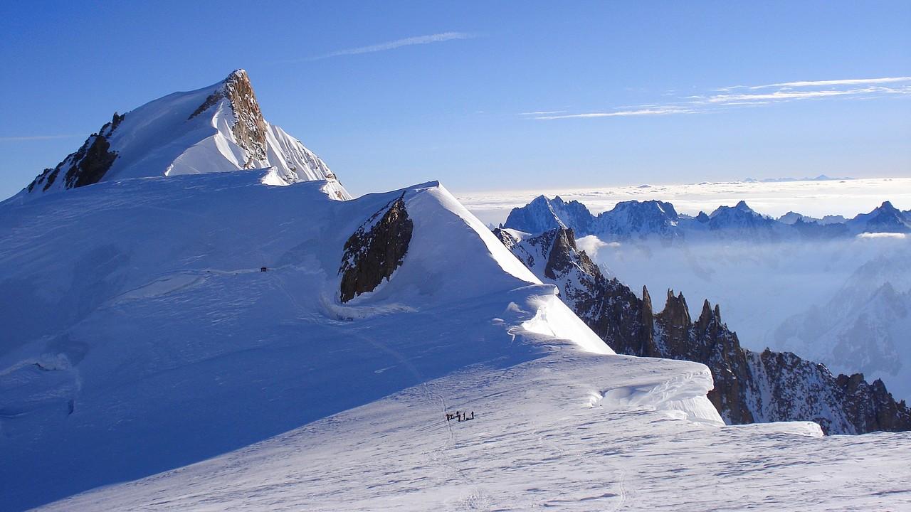 Brenvaflanke mit Mont Maudit