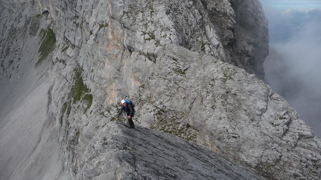 Abstieg über die Platte