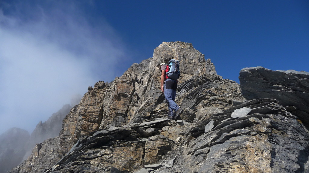 am SE-Grat - der Gipfel kommt näher