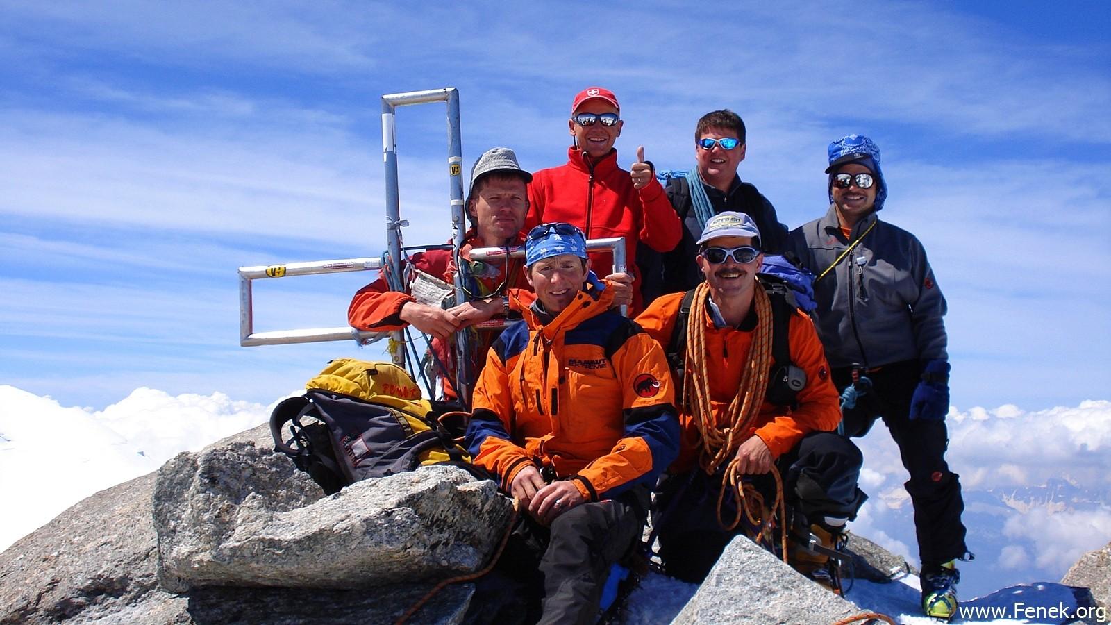 Gipfelfreude auf dem Mont Blanc du Tacul