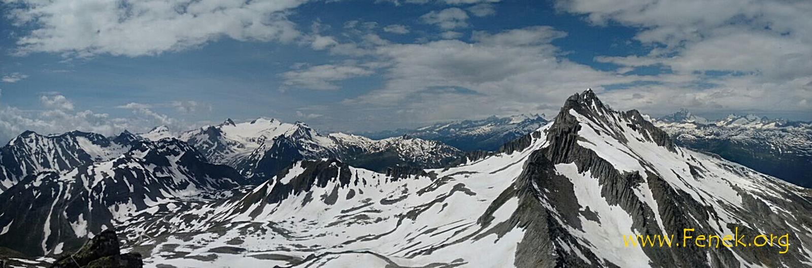 Panorama - ganz rechts Pizzo Gallina