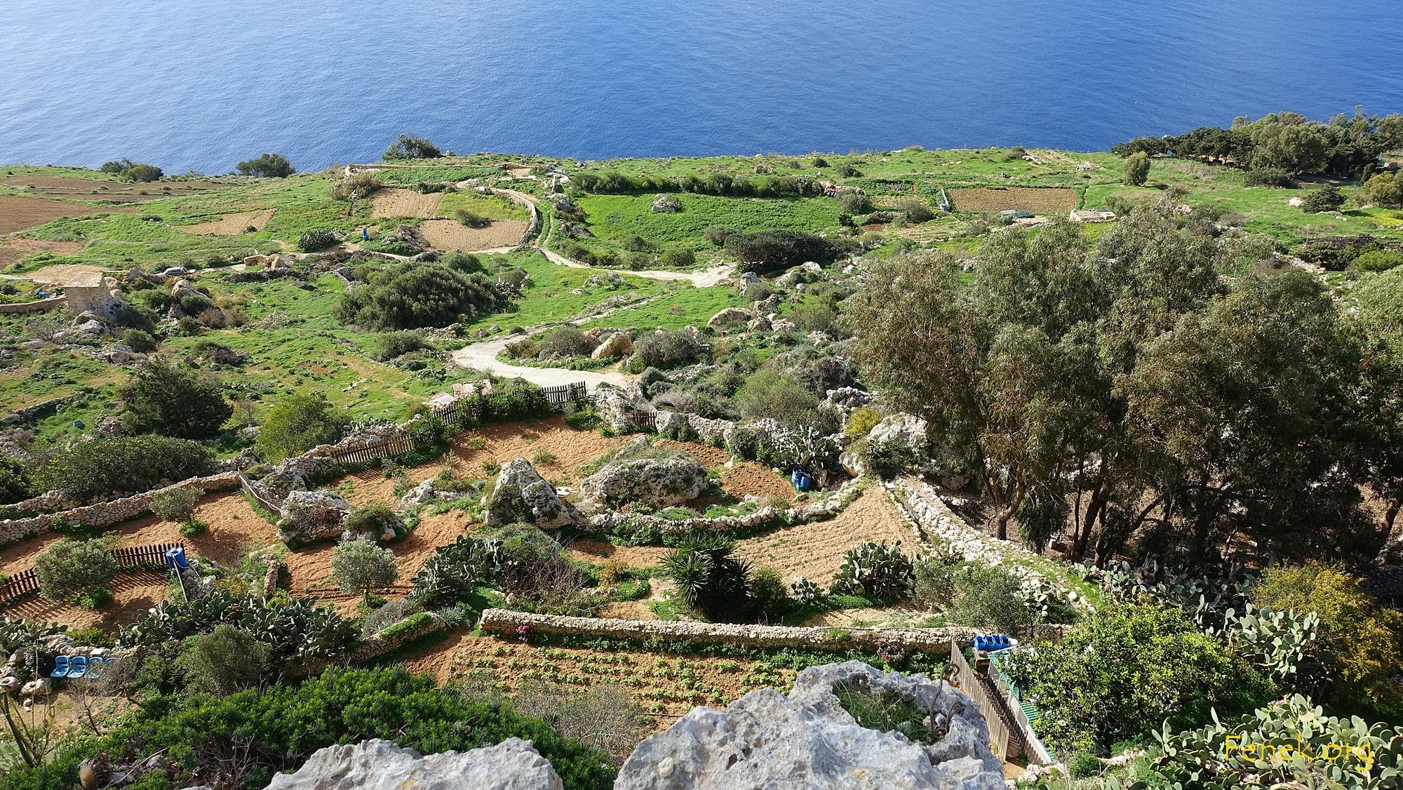 kleine Gärten bei den Cliff's