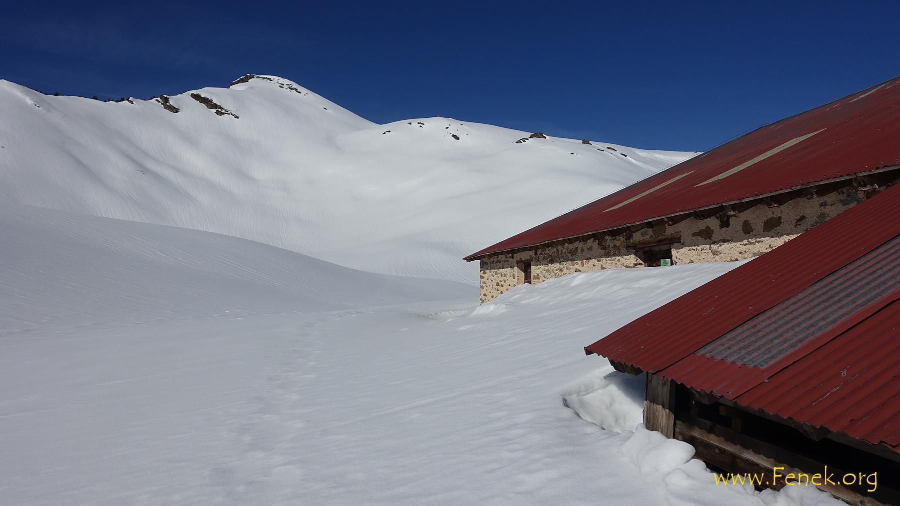 es hat noch viel Schnee!