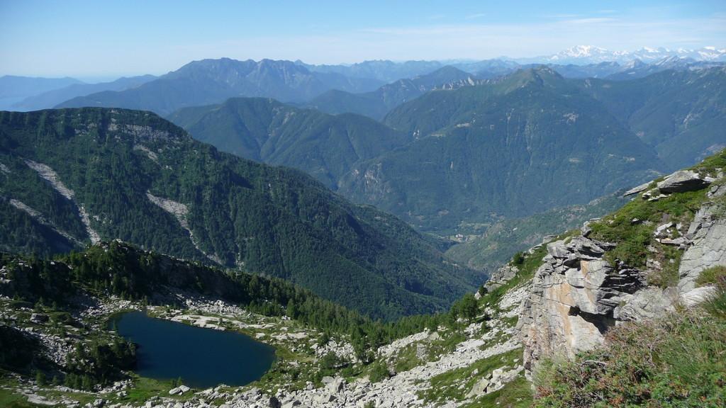 Laghetto Pianca und im Hintergrund Monte Rosa