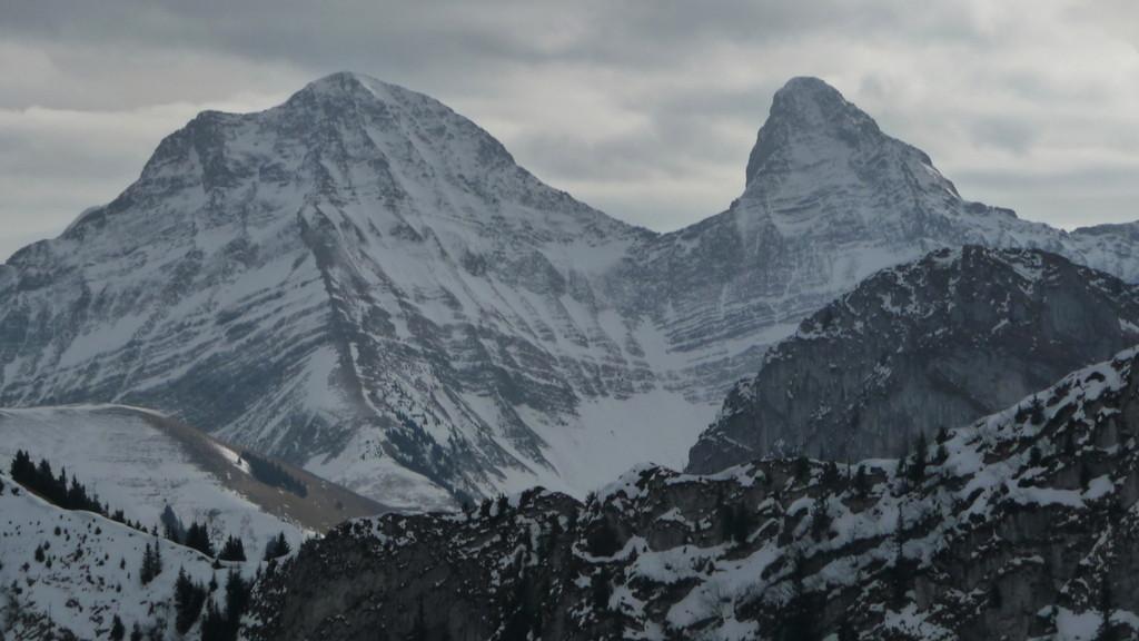 Brenleire und Folliéran - imposante Berge
