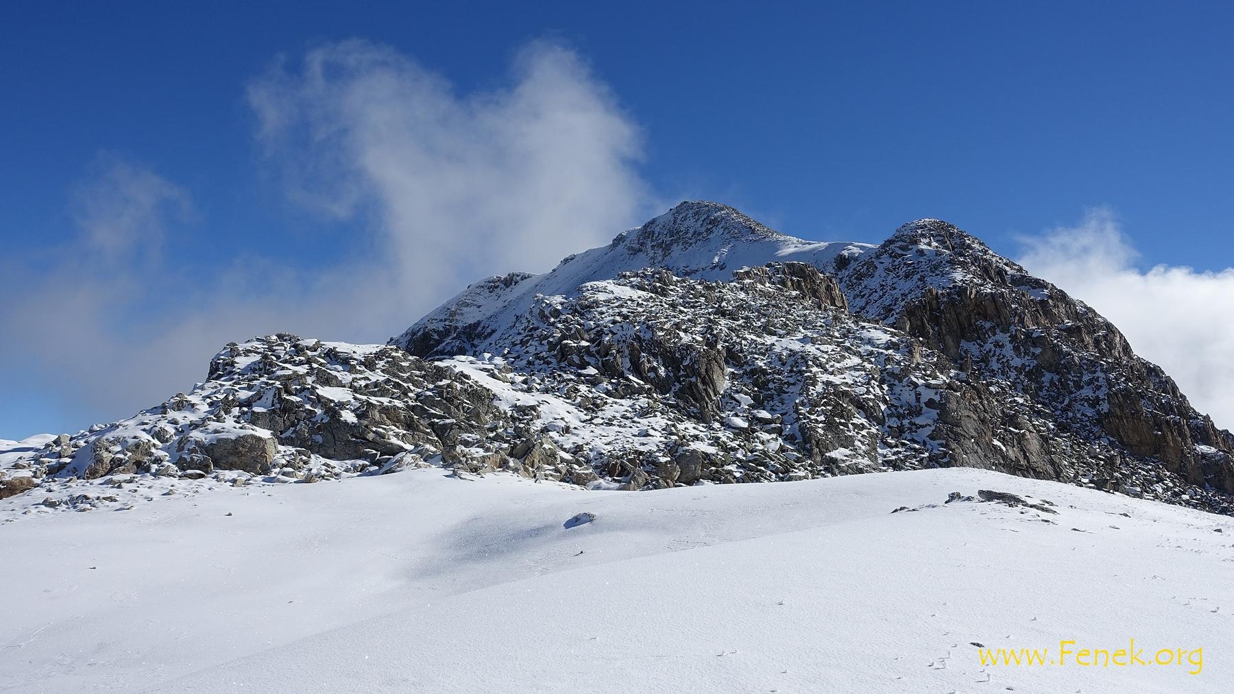nächste Aufgabe - SW Grat hinauf zum Gipfel