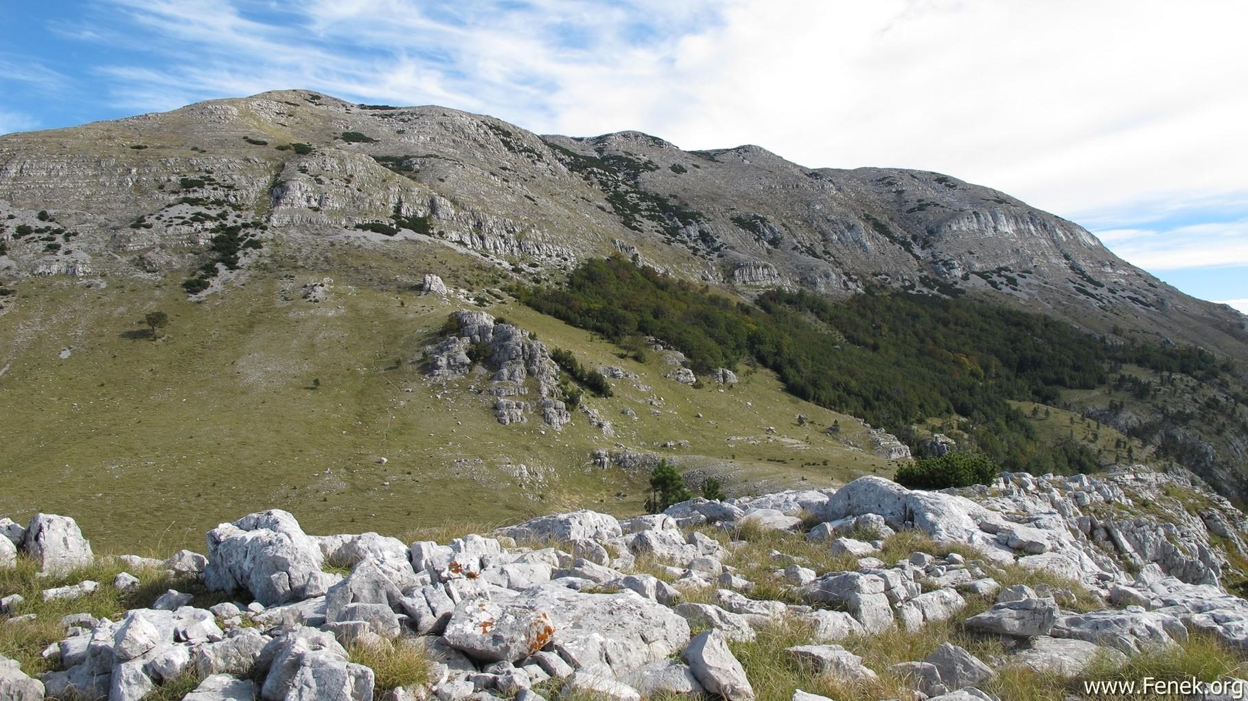 ein Blick zurück zum Gipfel