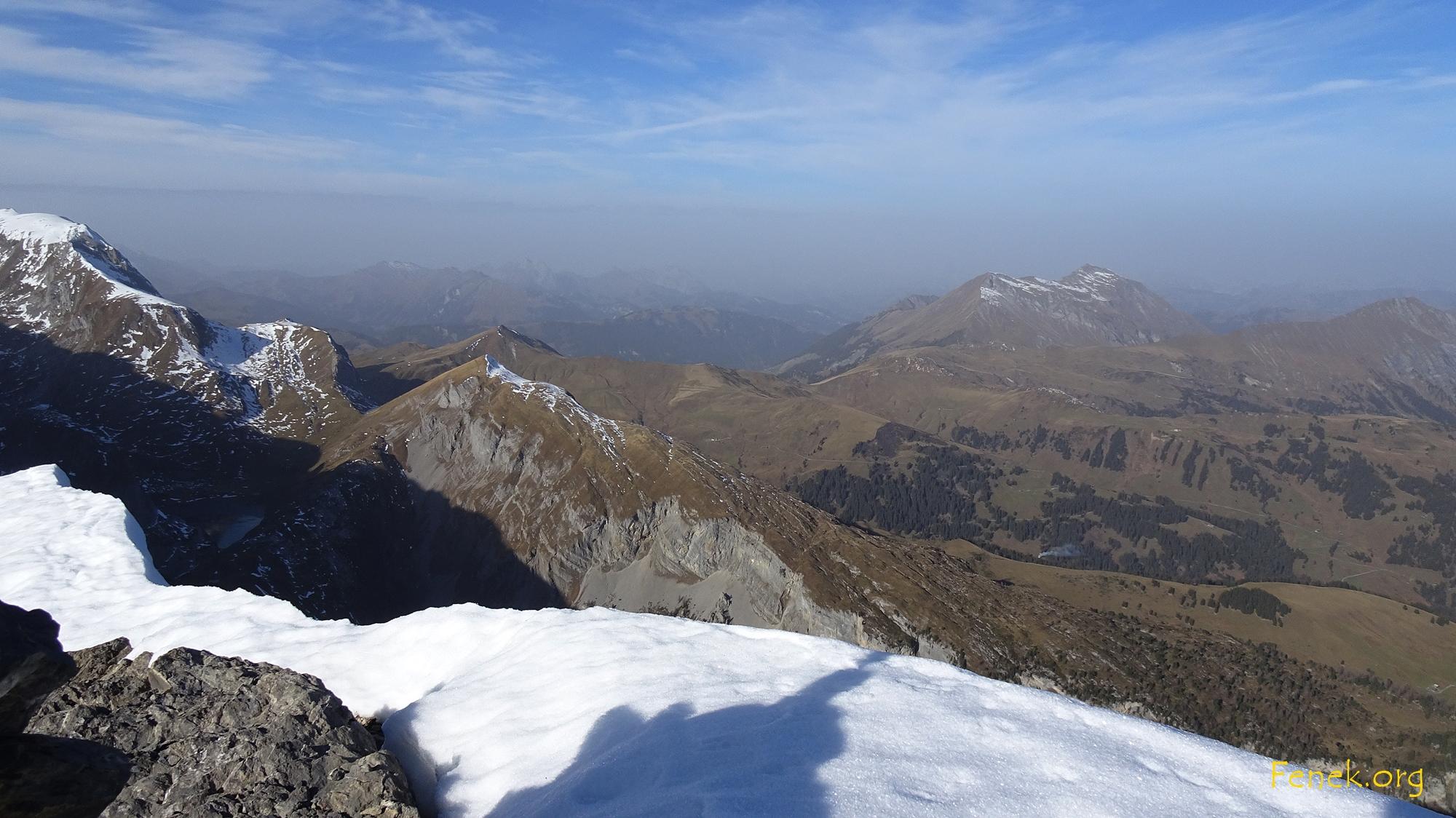Blick Richtung Lauenehore und Gstaad