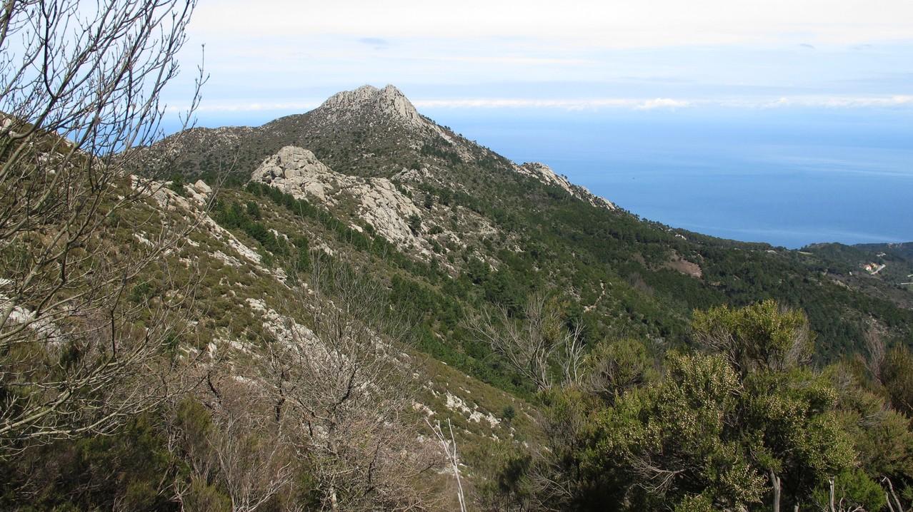Rückblick zum Monte Giove