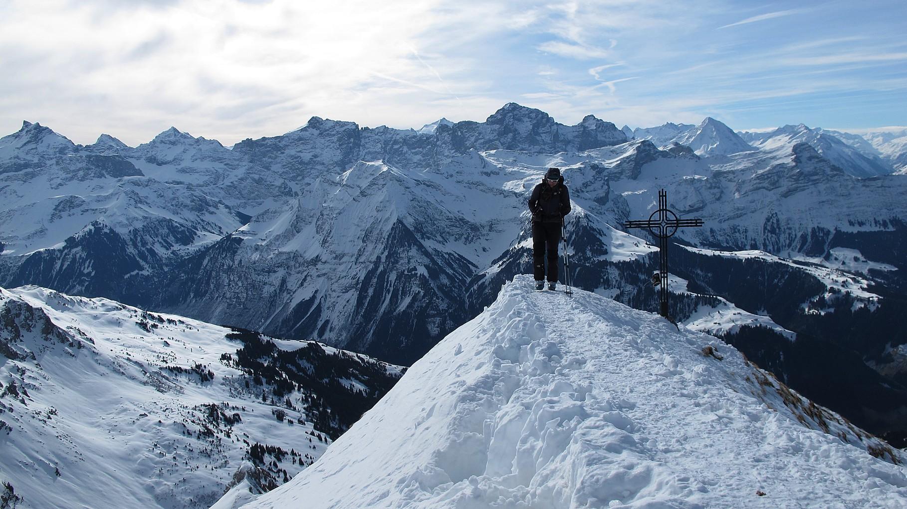 Saebu auf dem windigen Gipfel