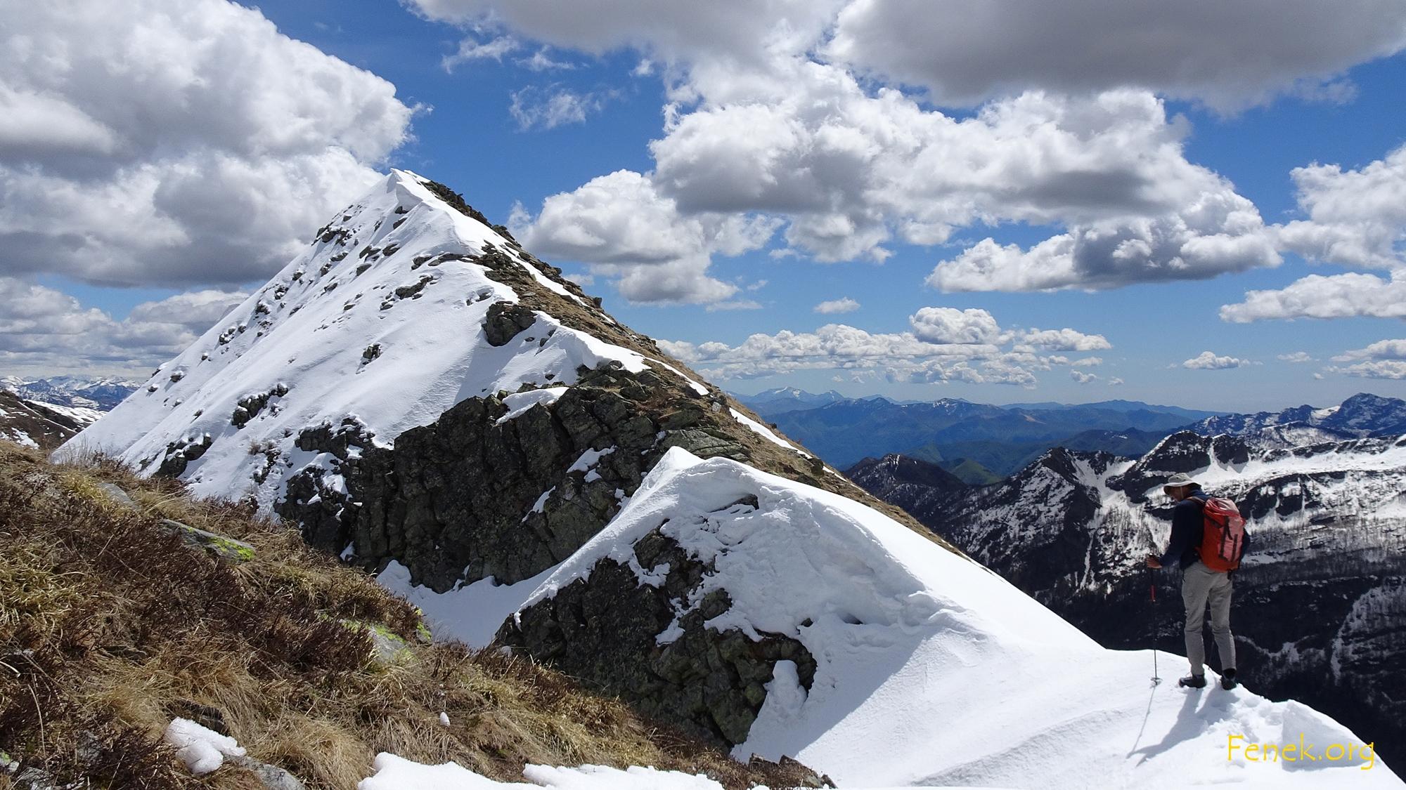 kurze ausgesetzte Passage im Schnee