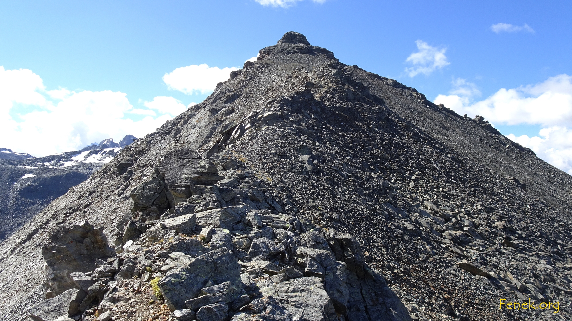 im Joch - jetzt hinauf zum Furggwanghorn