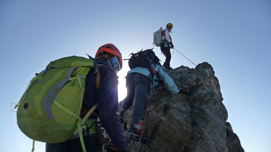 letzter Felsen vor dem Gipfel