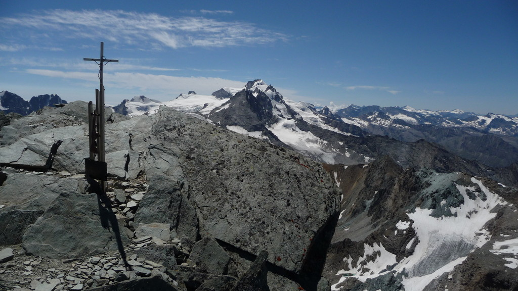 Gipfelpanorama zum Gran Paradiso