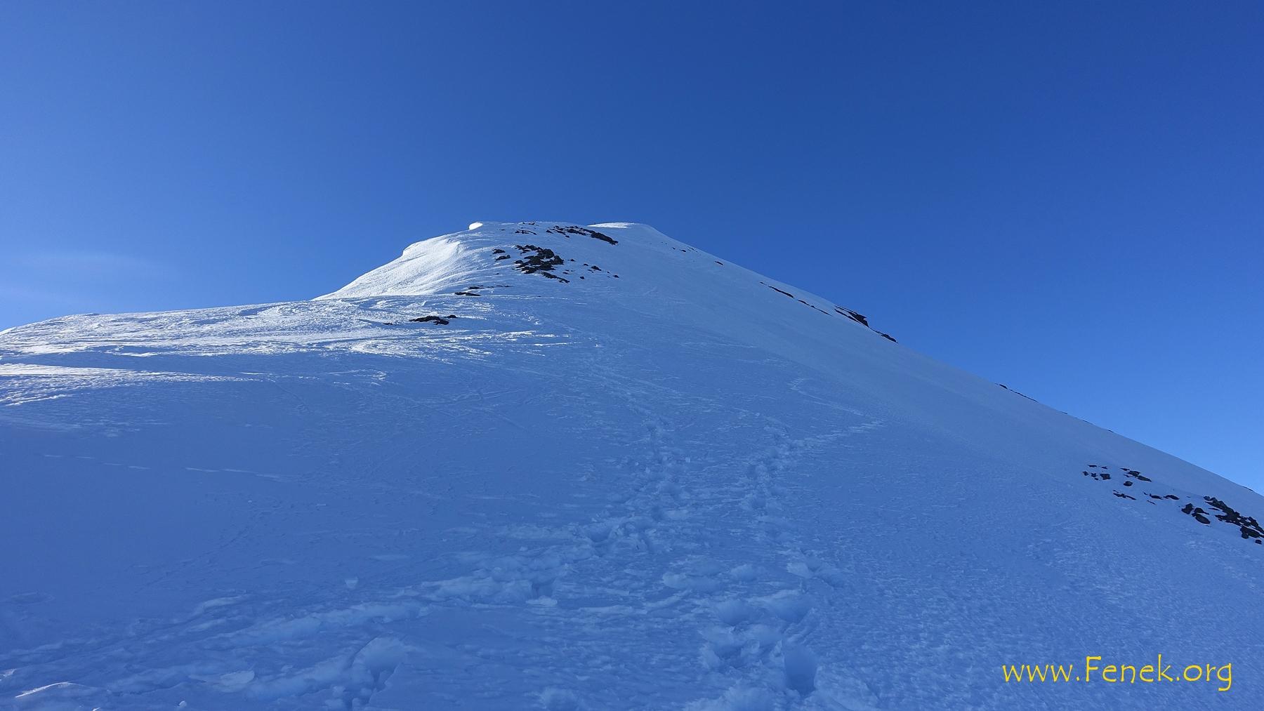 Der Nordgrat zum Gipfel....