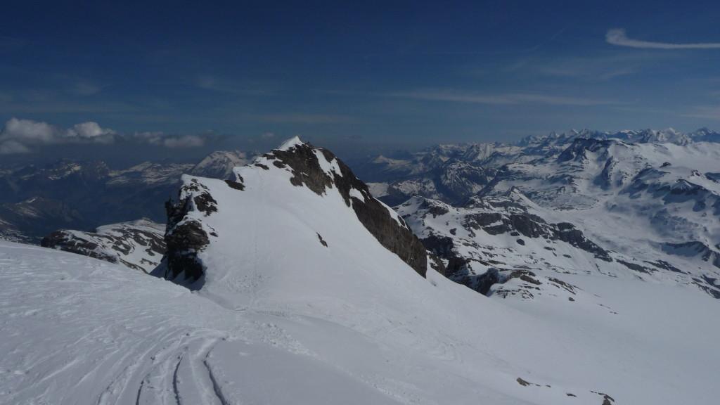 der nördliche Gipfel - er ist 1m tiefer