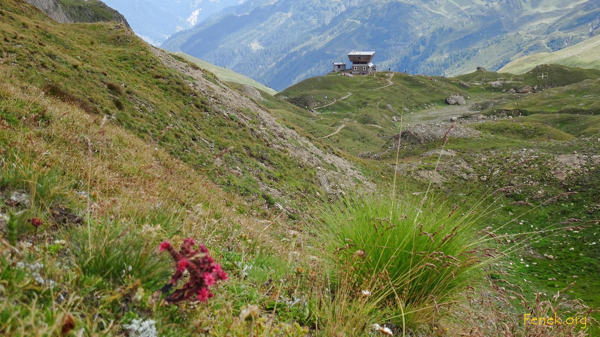 Hütte in Sicht