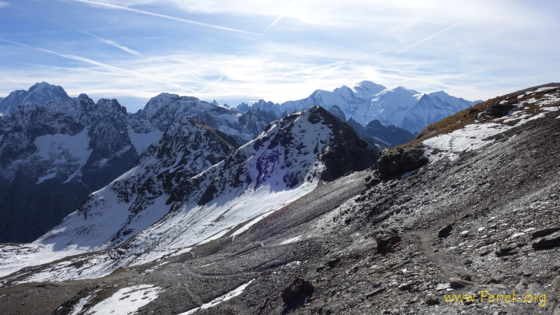 der Mont Blanc wird sichtbar