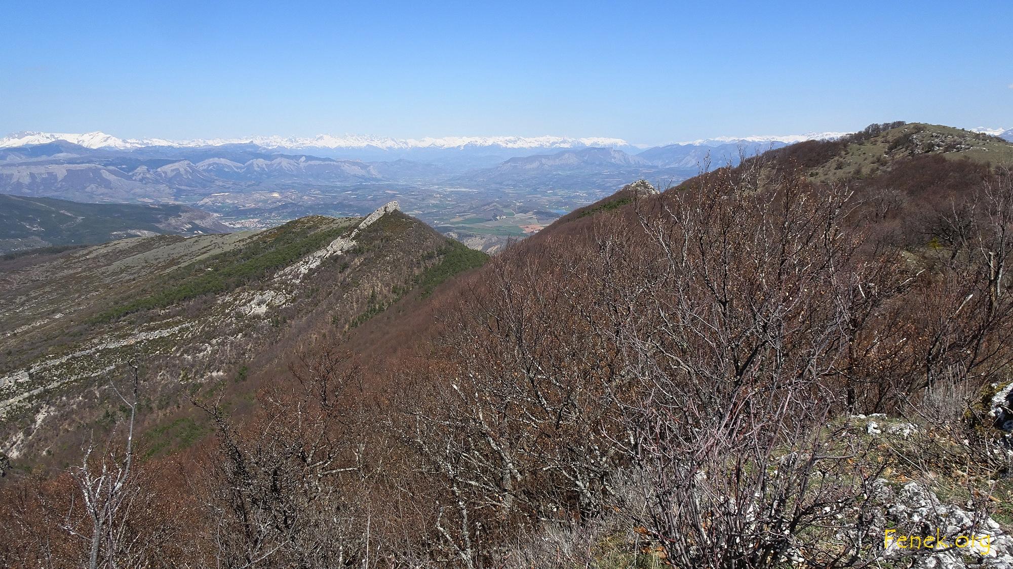 Rückblich auf die beiden Gipfel