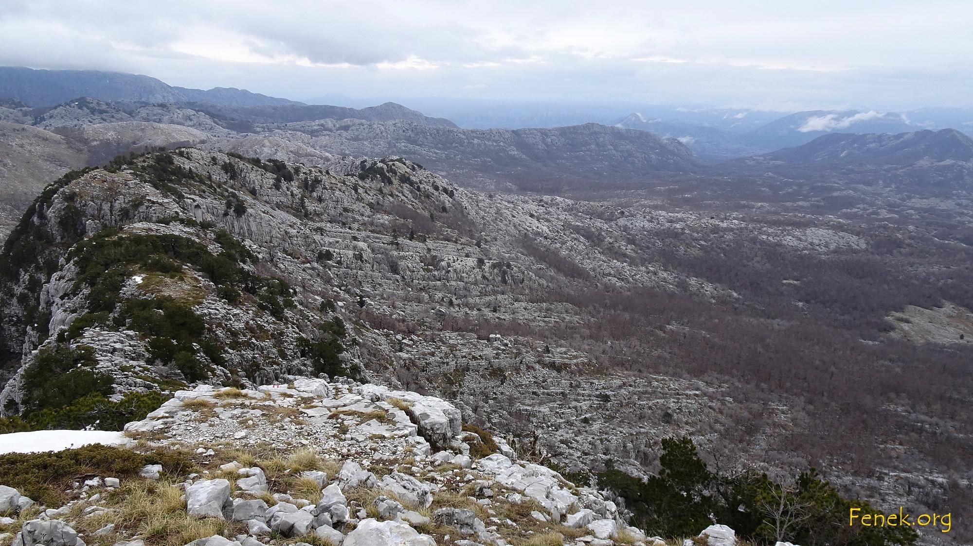 spanndender Weiterweg vom Gipfel - das war der schönste Teil