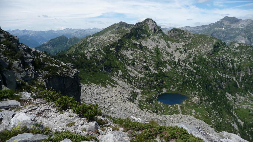 Cima del Masnee und Lago del Starlaresc da Sgióf