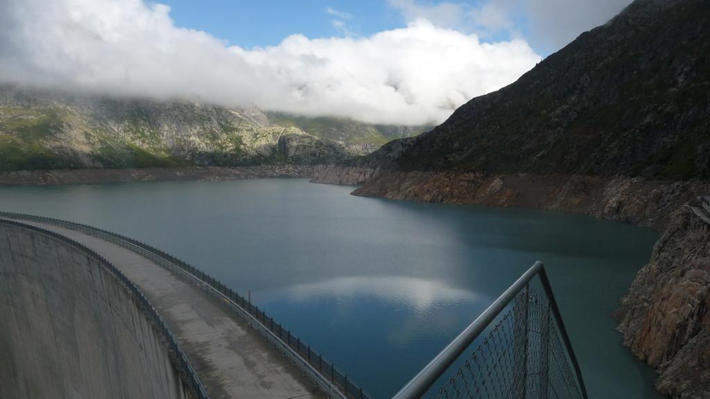 Lac d'Emosson - ziemlich leer.....