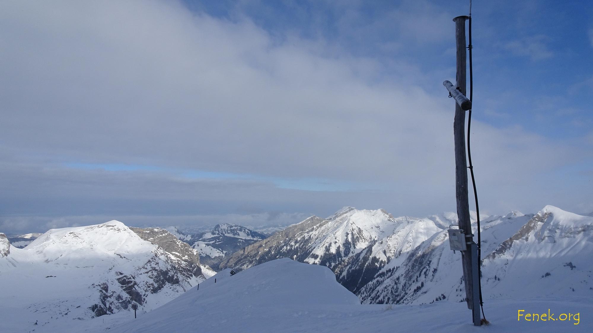 Gipfelaussicht zum Piet und Fluebrig
