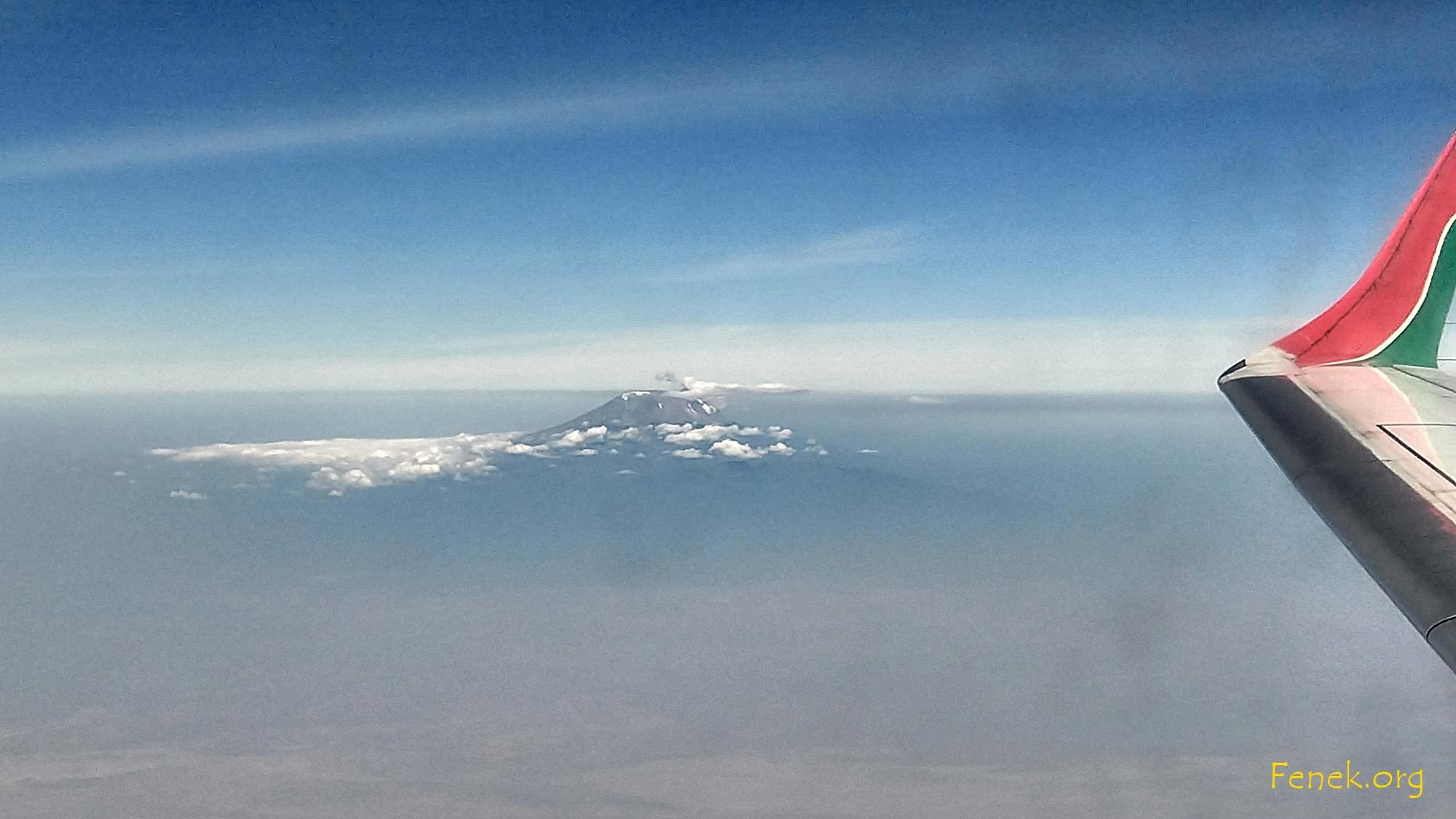 Heimreise - ein letzter Blick auf den Kilimanjaro