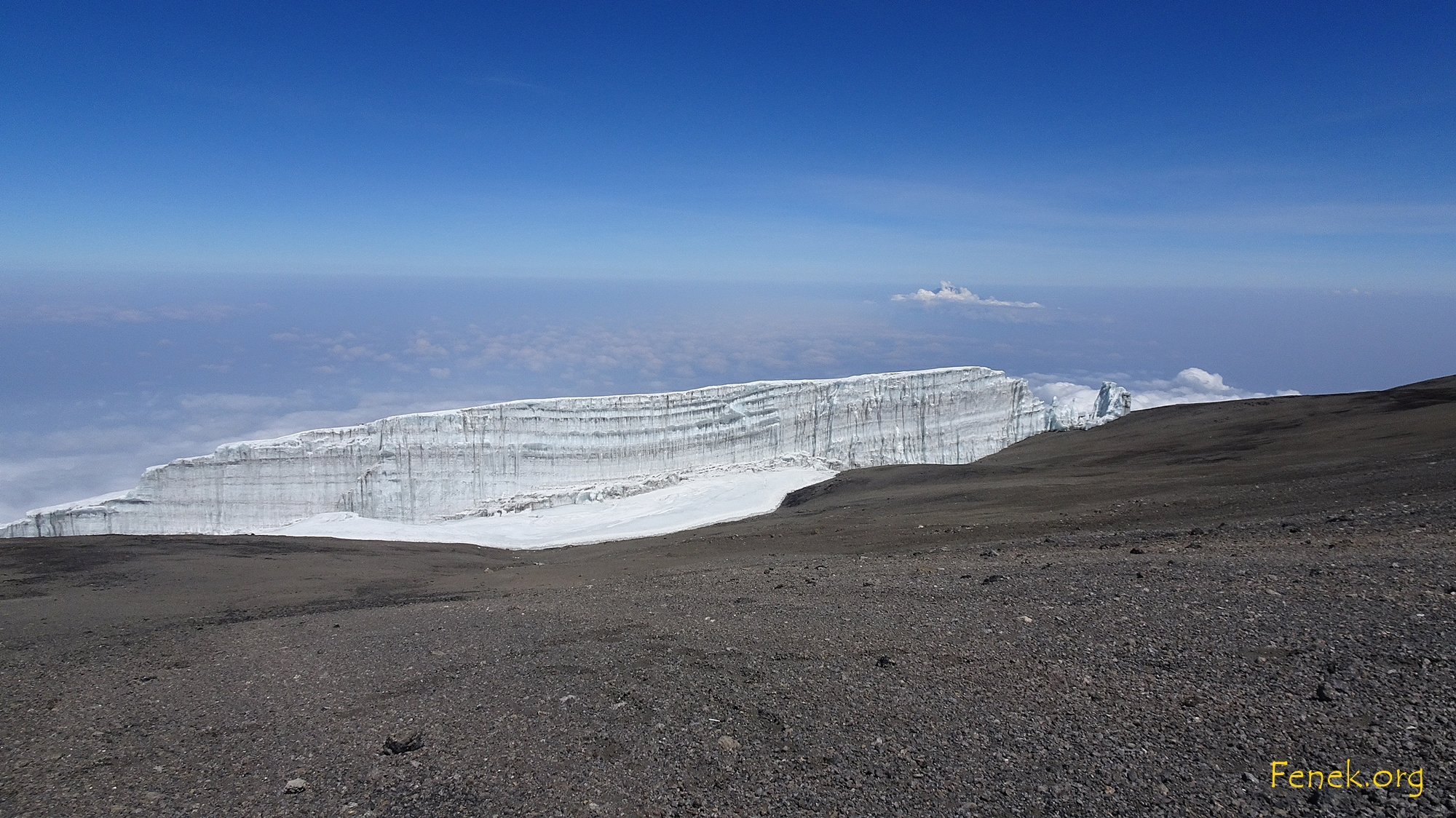 Gletscher am Gipfel