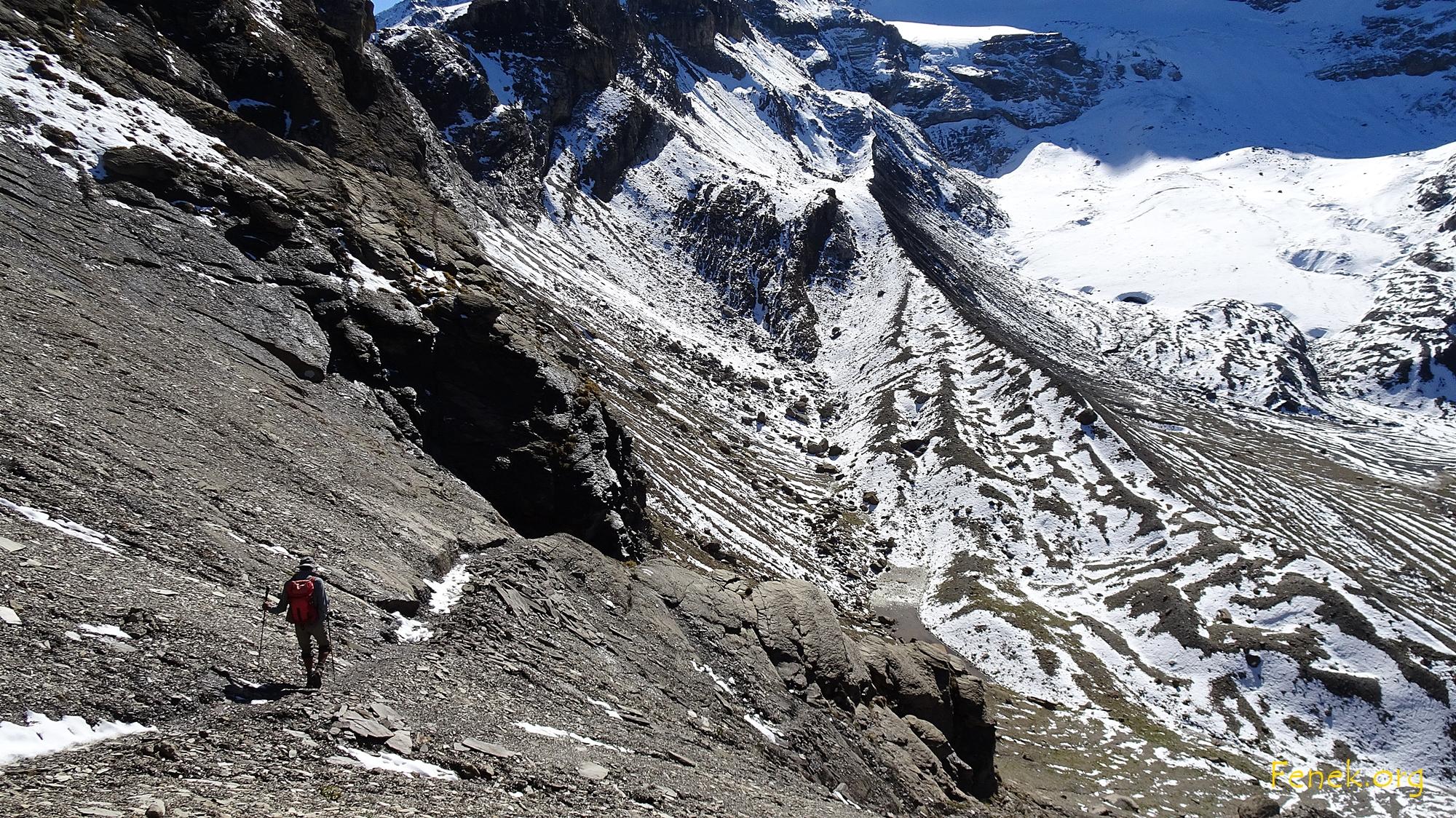 Abstieg zum Gletschervorfeld