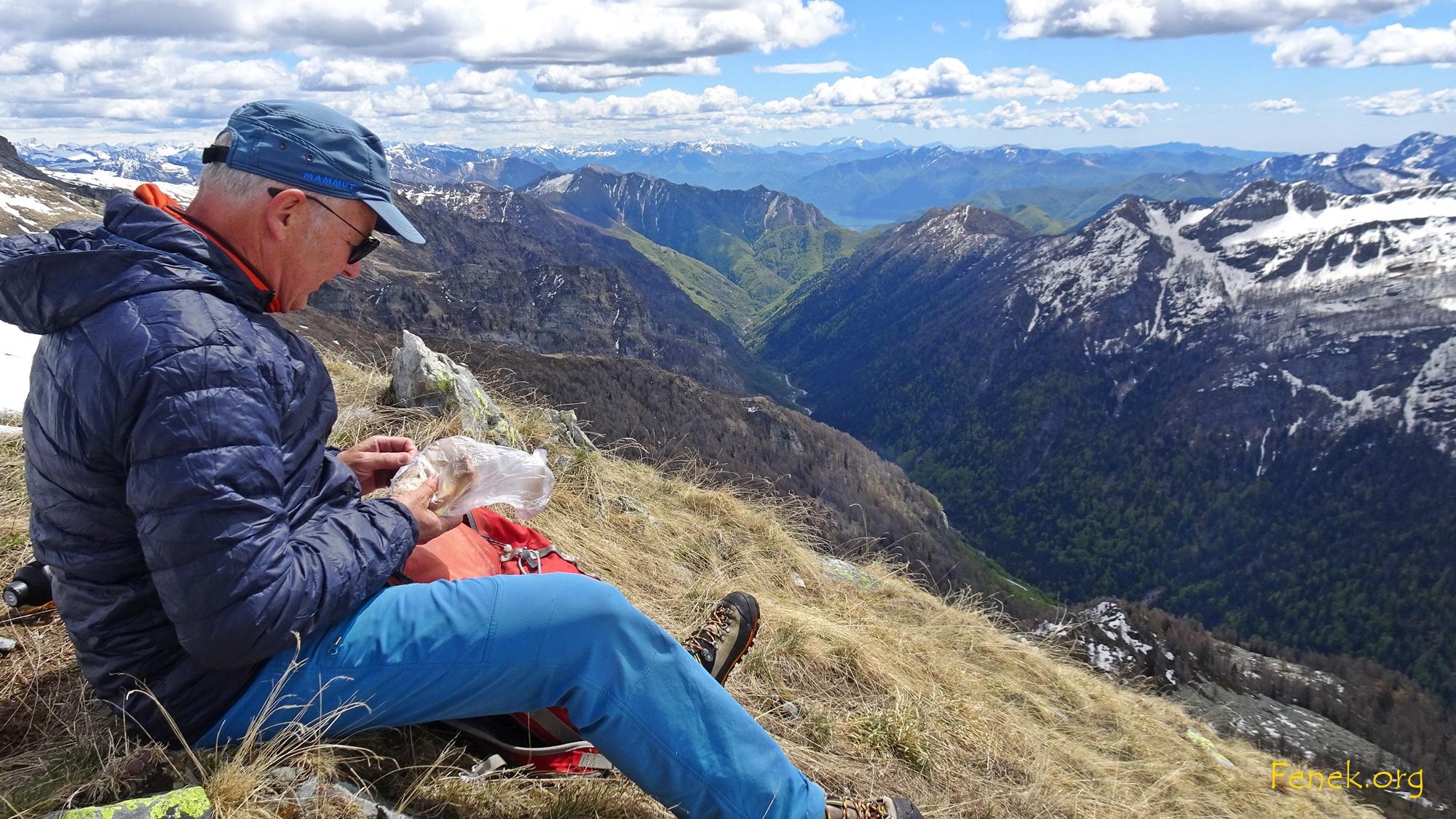 Bergsteigen gibt Hunger :-)