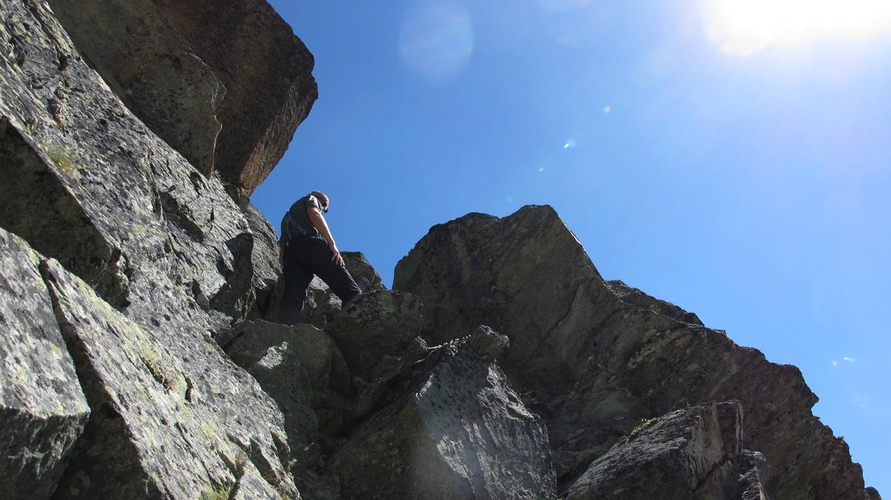 Klettern am Ziegenhorn..... (Pointe du Pas de Chèvres)