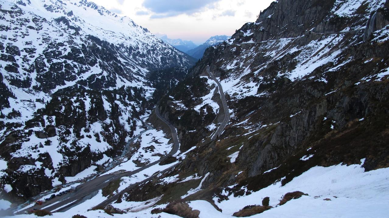 etliche Meter über dem Steingletscher....