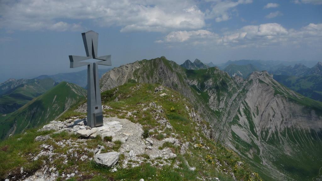 Gipfel der Pointe de Paray