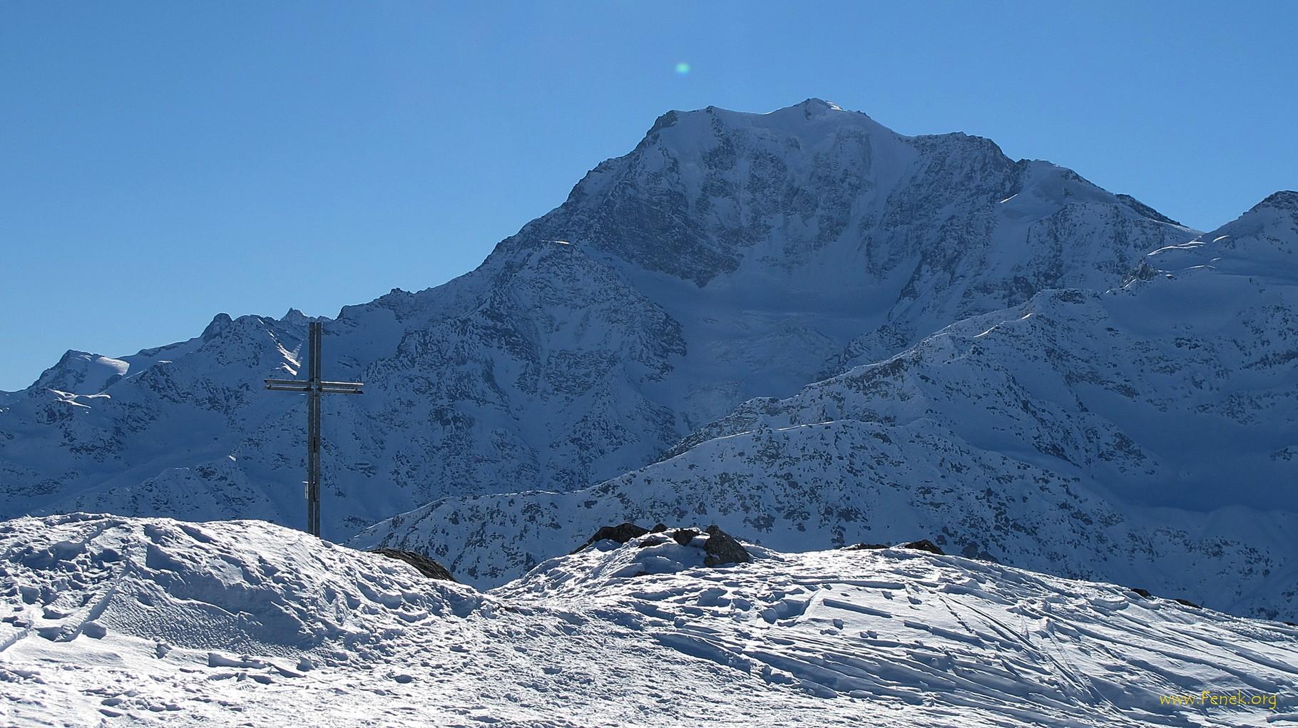 Gipfelkreuz und Fletschhorn