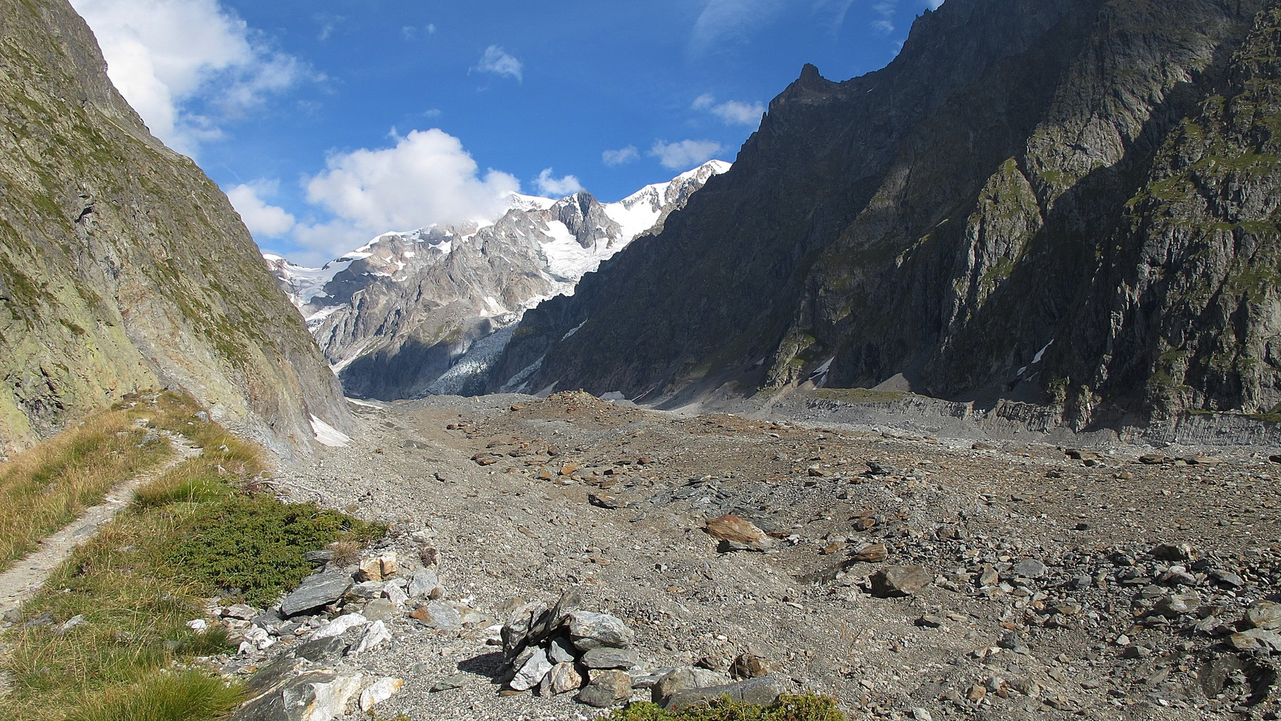 Glacier du Miage - ganz hinten Mont Blanc