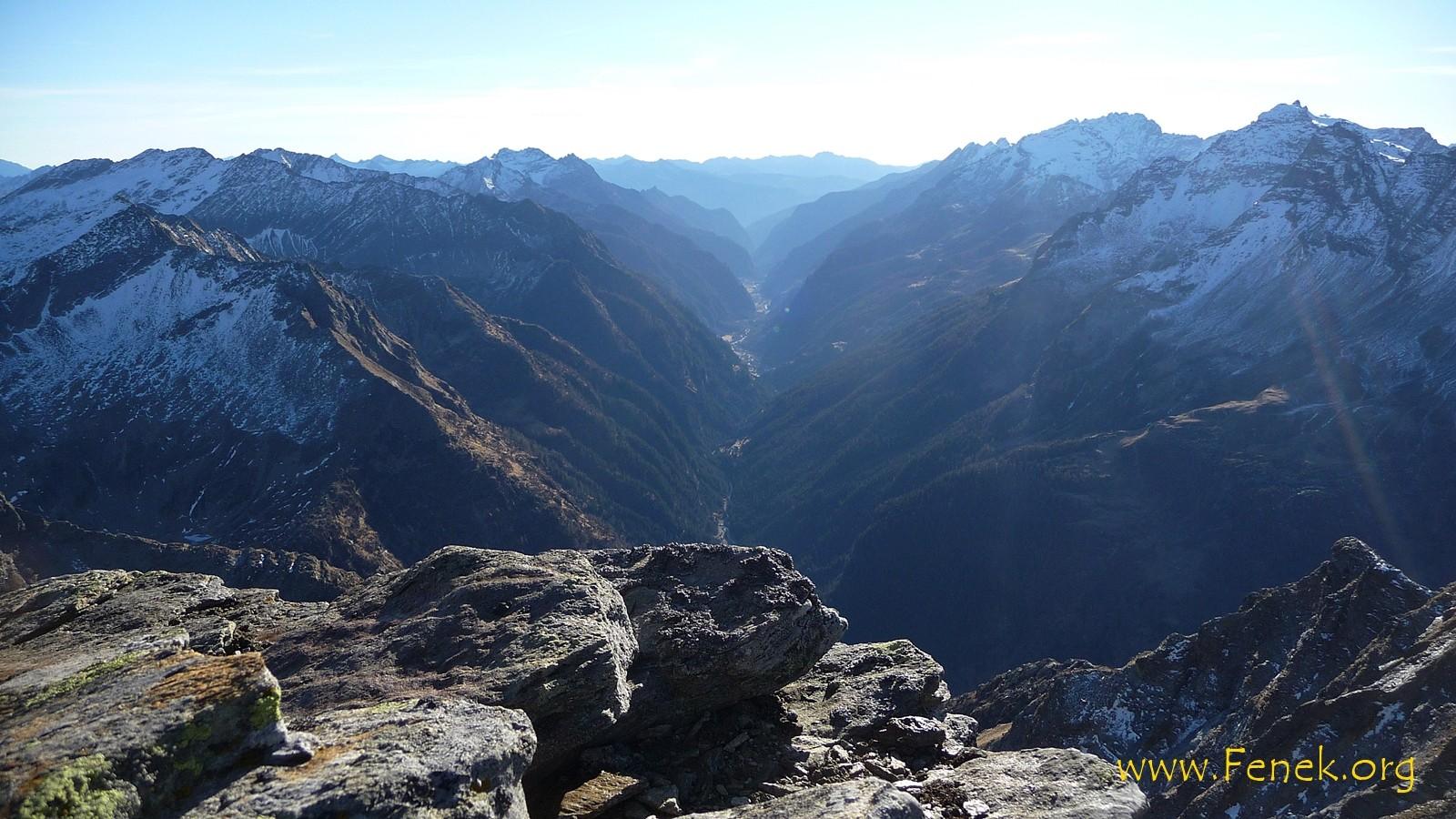Gipfelblick ins Calancatal
