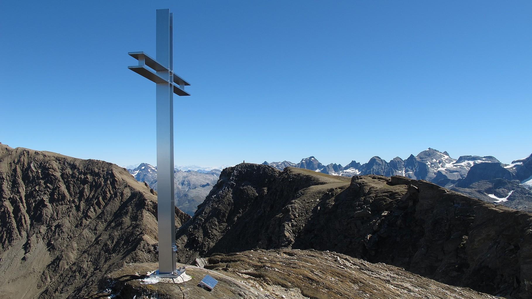 Gipfelkreuz beim Grosse Huwetz